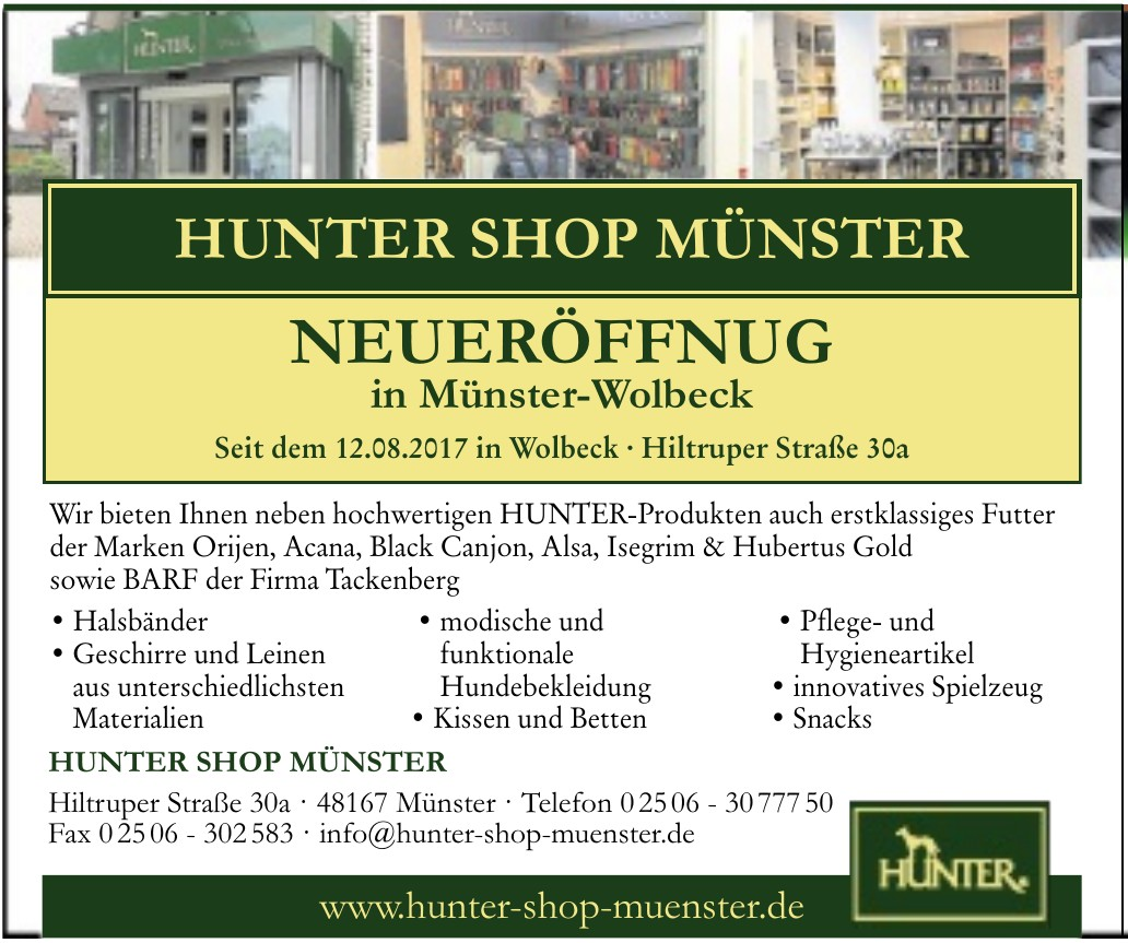 Hunter Shop Münster