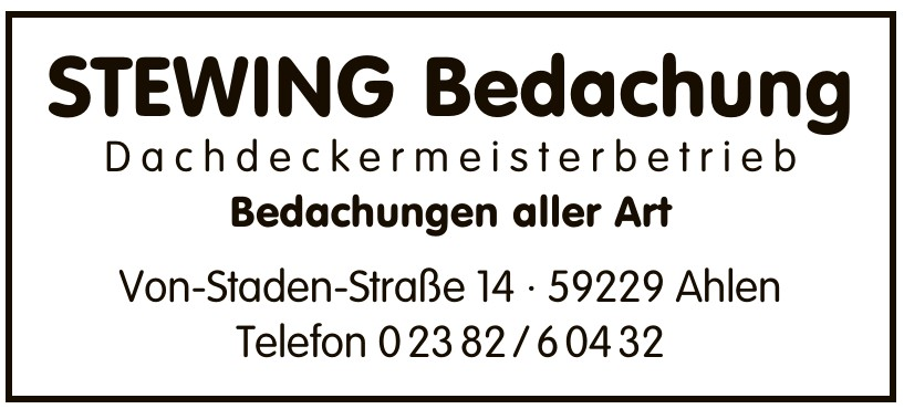 STEWING Bedachung