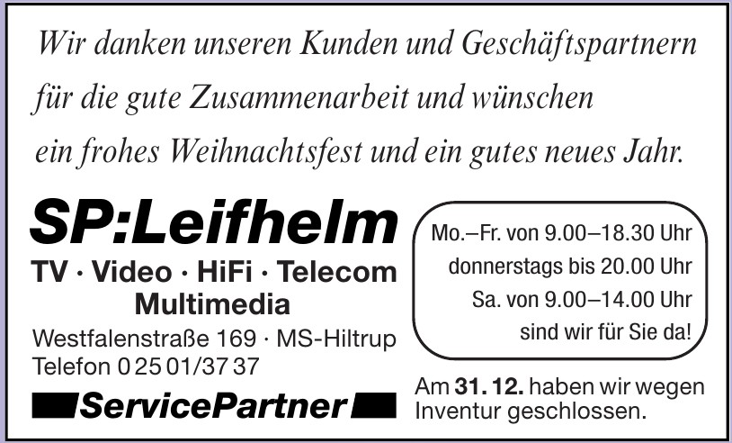 ServicePartner SP:Leifhelm